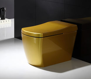 China Full Body Golden SmartToilet With Built In Bidet , Intelligent Toilet Seat Floor Mounted distributor