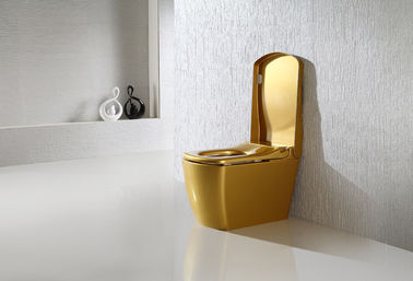 China Gold Color Smart One Piece Toilet 220V / 110V  Intelligent remote control automatic toilet distributor