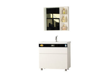 China Free Standing Bathroom Vanity Cabinets White Color Appearance With Mirror distributor