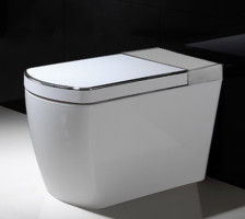 China White Smart Flush Toilet Set Floor Mounted Room Luxury Bathroom Accessories factory