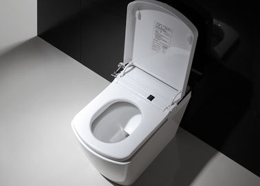 China Ceramic Electric ABS Bathroom Smart Toilet Square Shape Automatic Siphonic Flushing factory